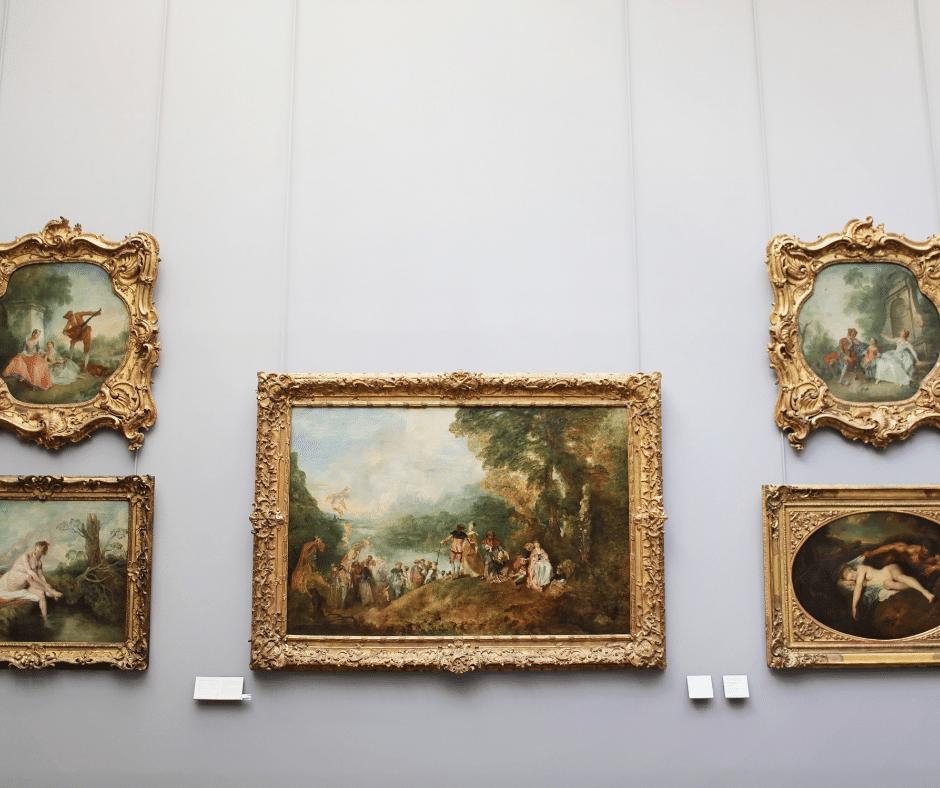 des tableaux de grands artistes