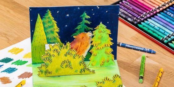 carte de vœux à colorier