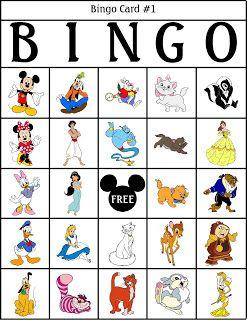 grille de bingo Disney pour enfant