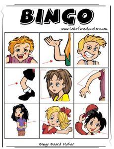 bingo en anglais pour enfant