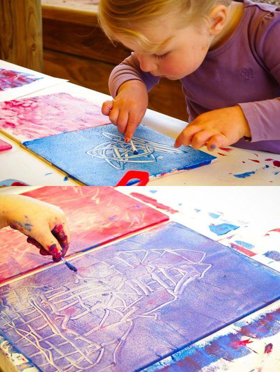 dessin enfant : une fillette qui dessine avec les doigts