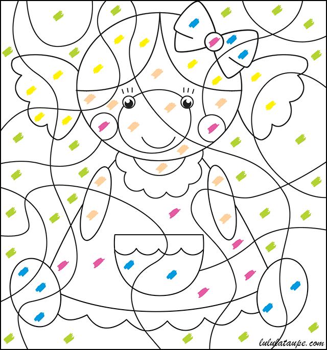 Coloriage magique couleur