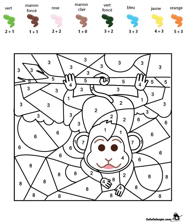 coloriage d'un singe