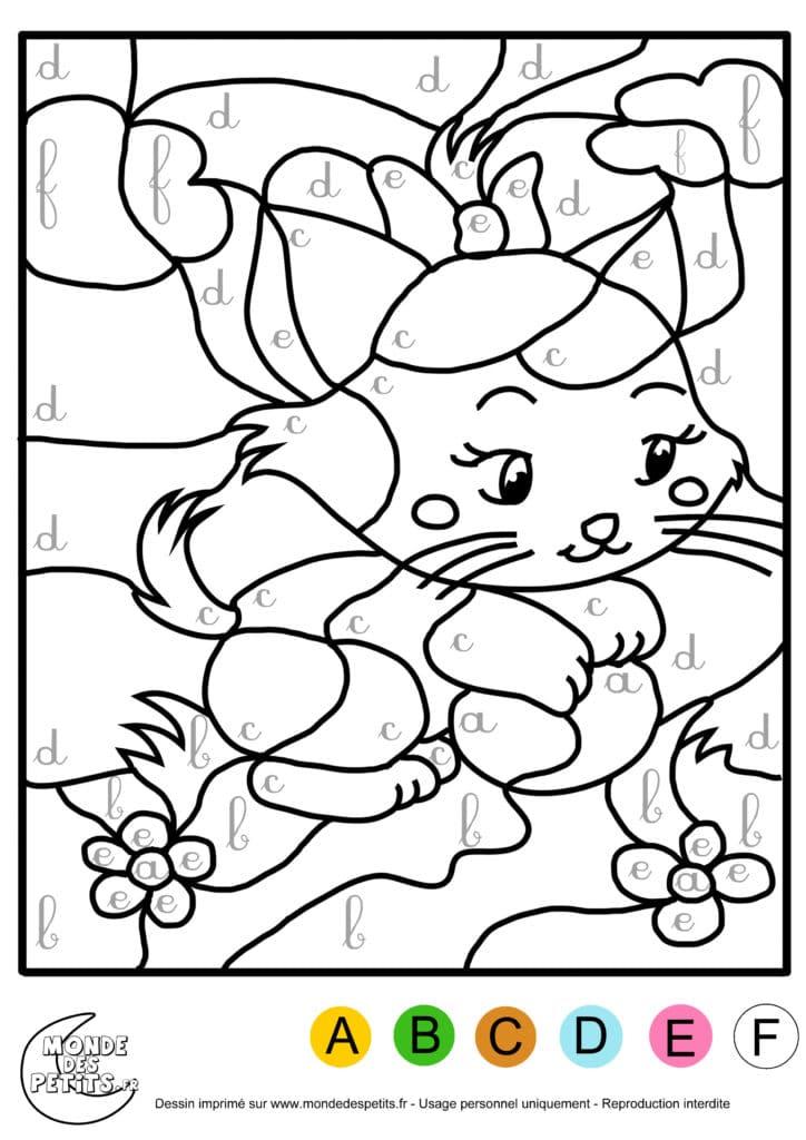 coloriage : un chat